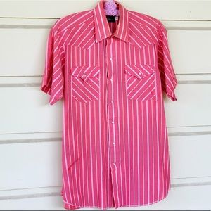 Vintage Panhandle Slims Striped Western Button Up